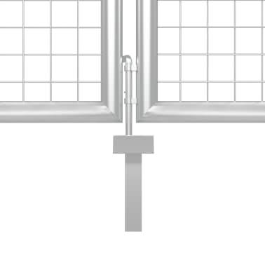 vidaXL Poort 400x200 cm staal zilverkleurig[3/5]
