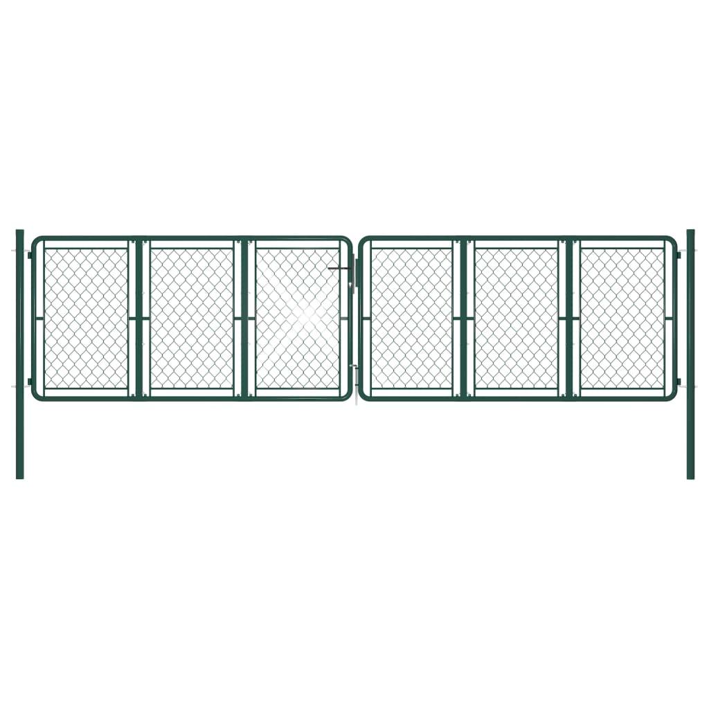 Aiavärav, teras, 400 x 125 cm, roheline