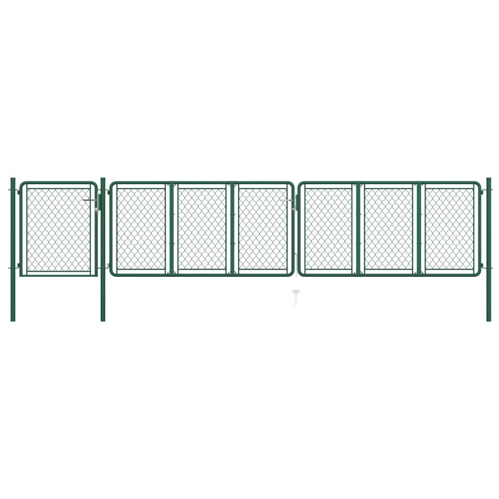 vidaXL Poort 75x495 cm staal groen