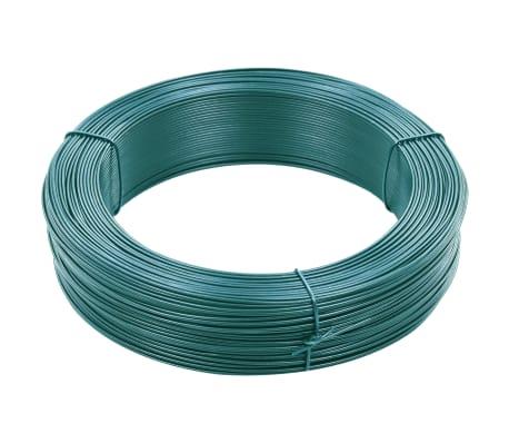 vidaXL Fil de liaison de clôture 250 m 0,9/1,4 mm Acier Vert noirâtre