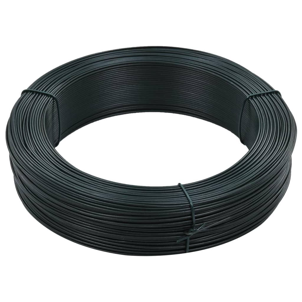vidaXL Fir de tensionare pentru gard 250 m 1,4/2 mm verde închis, oțel poza vidaxl.ro