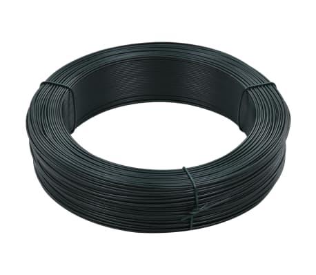 vidaXL Stagtråd 250 m 1,4/2 mm stål svartgrön