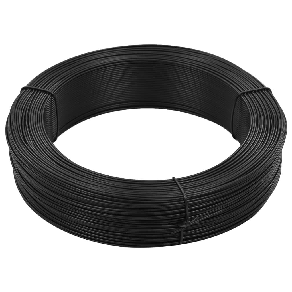 vidaXL Fir de tensionare pentru gard 250 m 1,6/2,5 mm, antracit, oțel poza vidaxl.ro