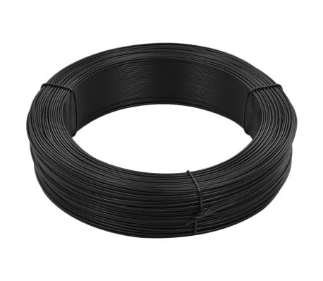 vidaXL Fil de liaison de clôture 250 m 1,6/2,5 mm Acier Anthracite