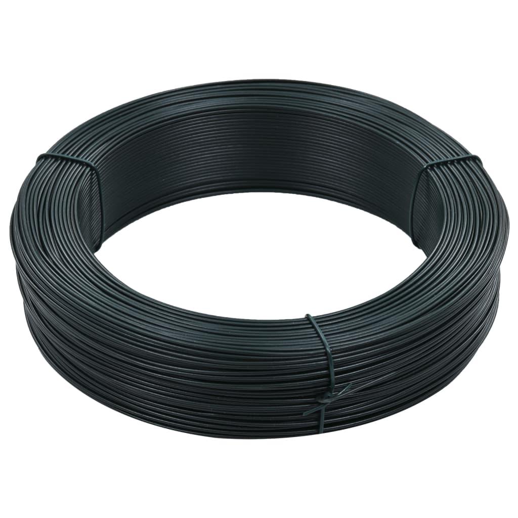 vidaXL Fir tensionare pentru gard 250 m 2,3/3,8 mm verde închis, oțel poza vidaxl.ro