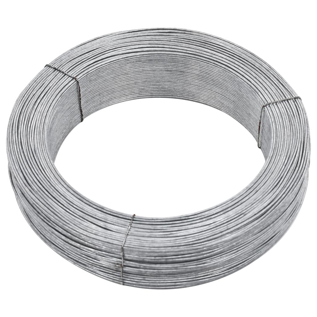 vidaXL Fir de tensionare pentru gard, 250 m, 2 mm, oțel imagine vidaxl.ro