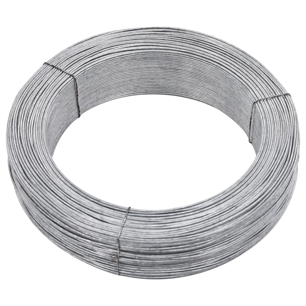 vidaXL Fir de tensionare pentru gard, 250 m, 2,5 mm, oțel vidaxl.ro