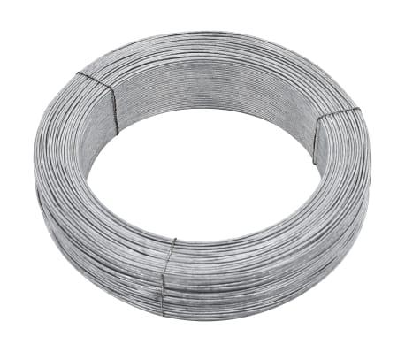 vidaXL Fil de liaison de clôture 250 m 2,5 mm Acier