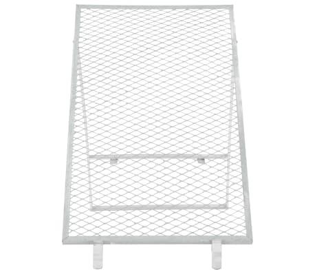 vidaXL Smėlio sietas, sidabrinės spalvos, 100x60cm[2/5]