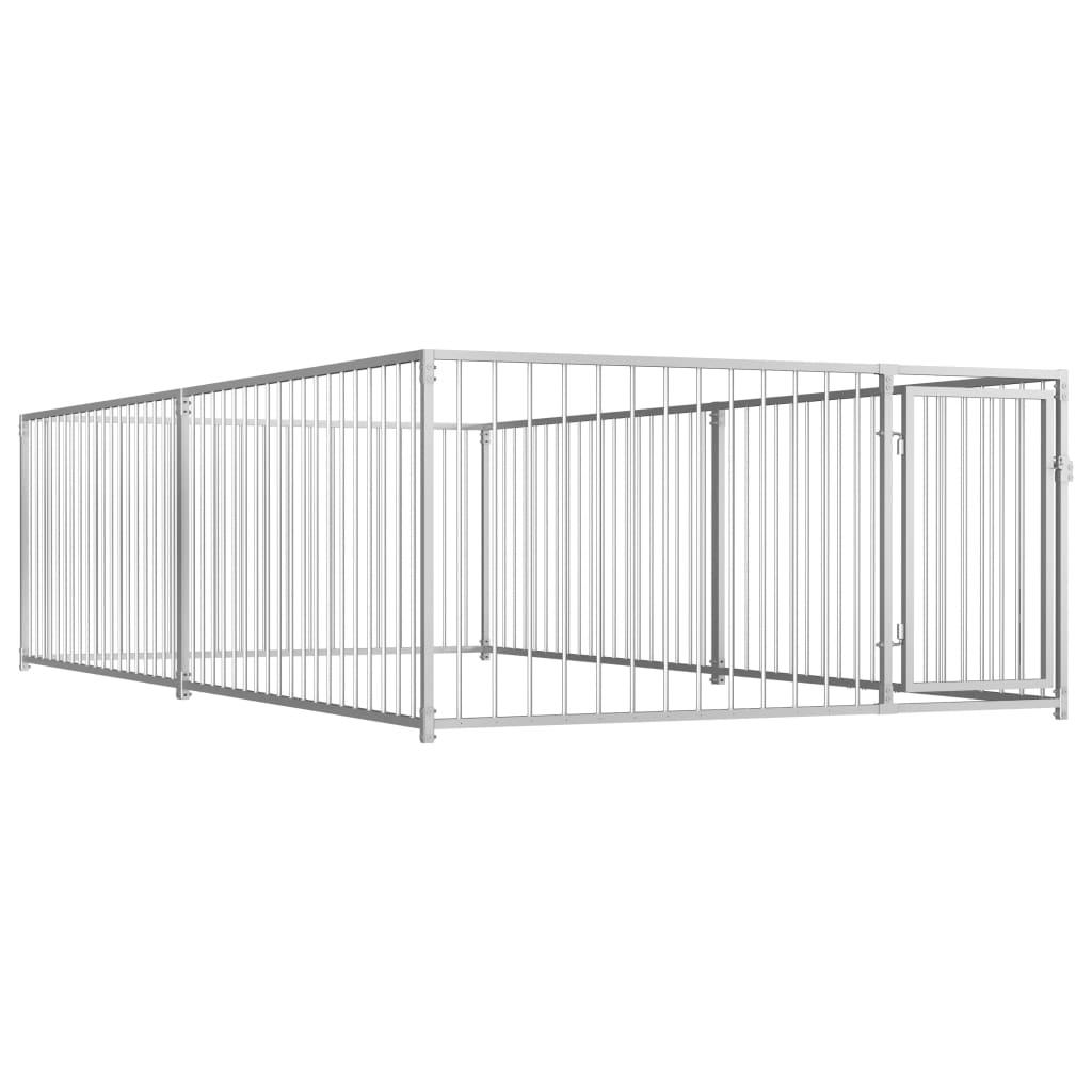 vidaXL Padoc de câini pentru exterior, 200 x 400 x 100 cm imagine vidaxl.ro