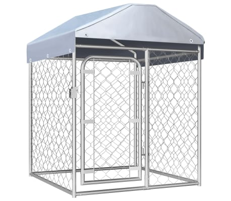 """vidaXL Outdoor Dog Kennel with Roof 39.4""""x39.4""""x49.2"""""""