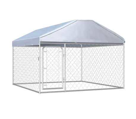 vidaXL Outdoor Dog Kennel with Roof 200x200x135 cm
