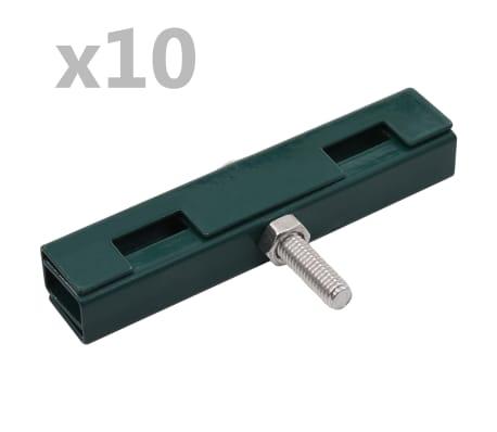vidaXL Garden U Mat Connector 10 Sets Green
