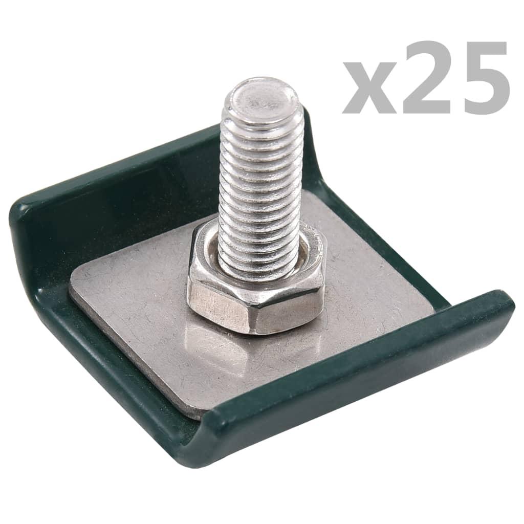 vidaXL Conector grilaj din plasă, verde, 25 seturi poza vidaxl.ro