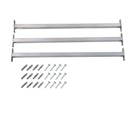 vidaXL Justerbara inkrypningsskydd för fönster 3 st 710-1200 mm