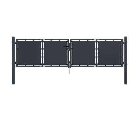vidaXL Puerta de jardín de acero gris antracita 300x100 cm