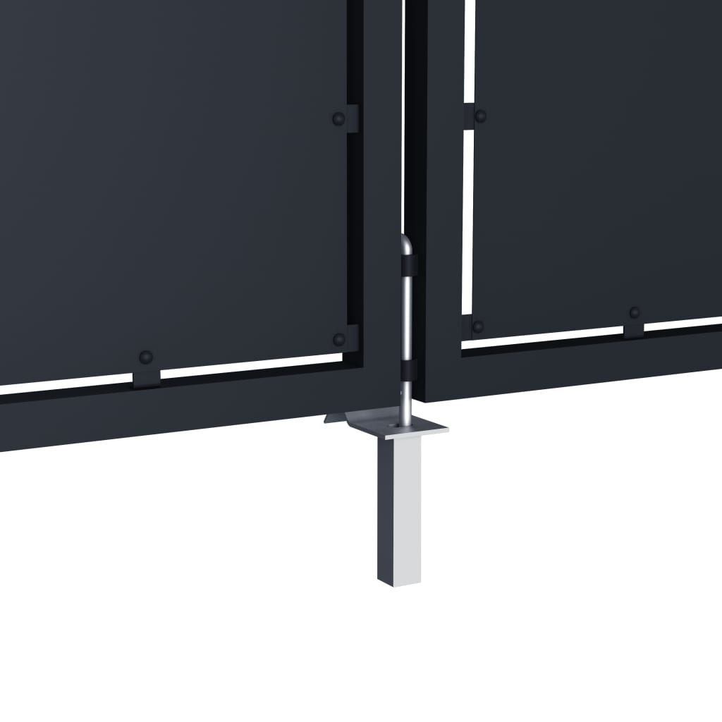 vidaXL Poort 5x1,5 m metaal antraciet