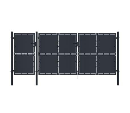 vidaXL Poort 4x2 m metaal antraciet