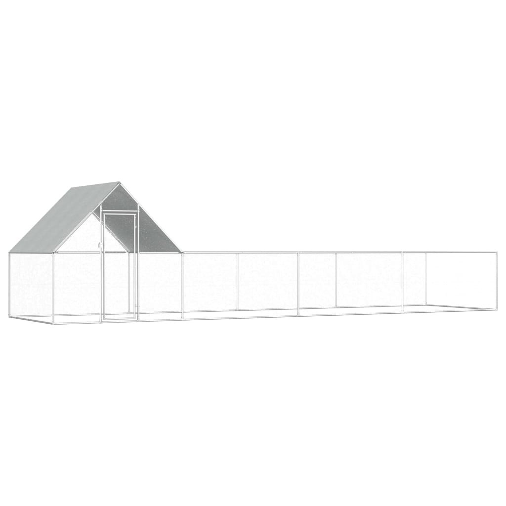 vidaXL Klec pro kuřata 8 x 2 x 2 m pozinkovaná ocel
