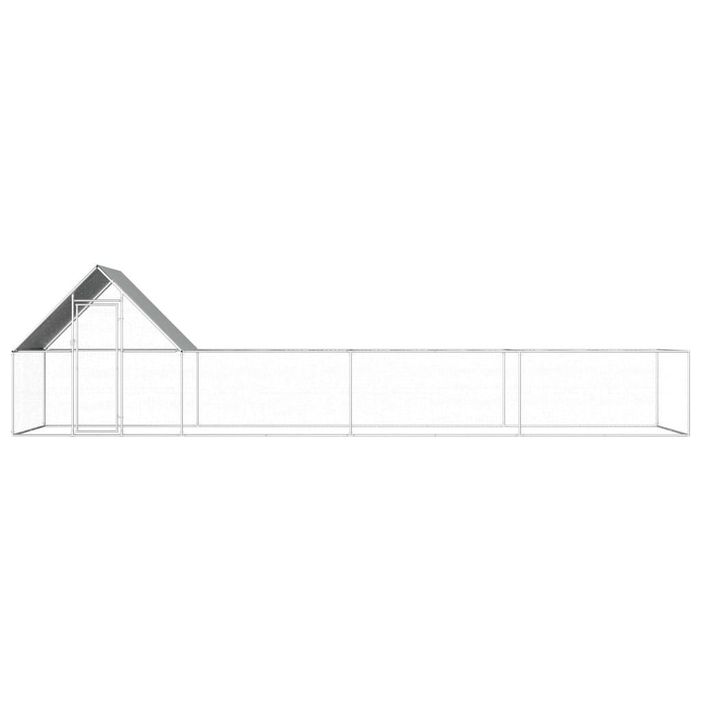 vidaXL Kippenren 8x2x2 m gegalvaniseerd staal