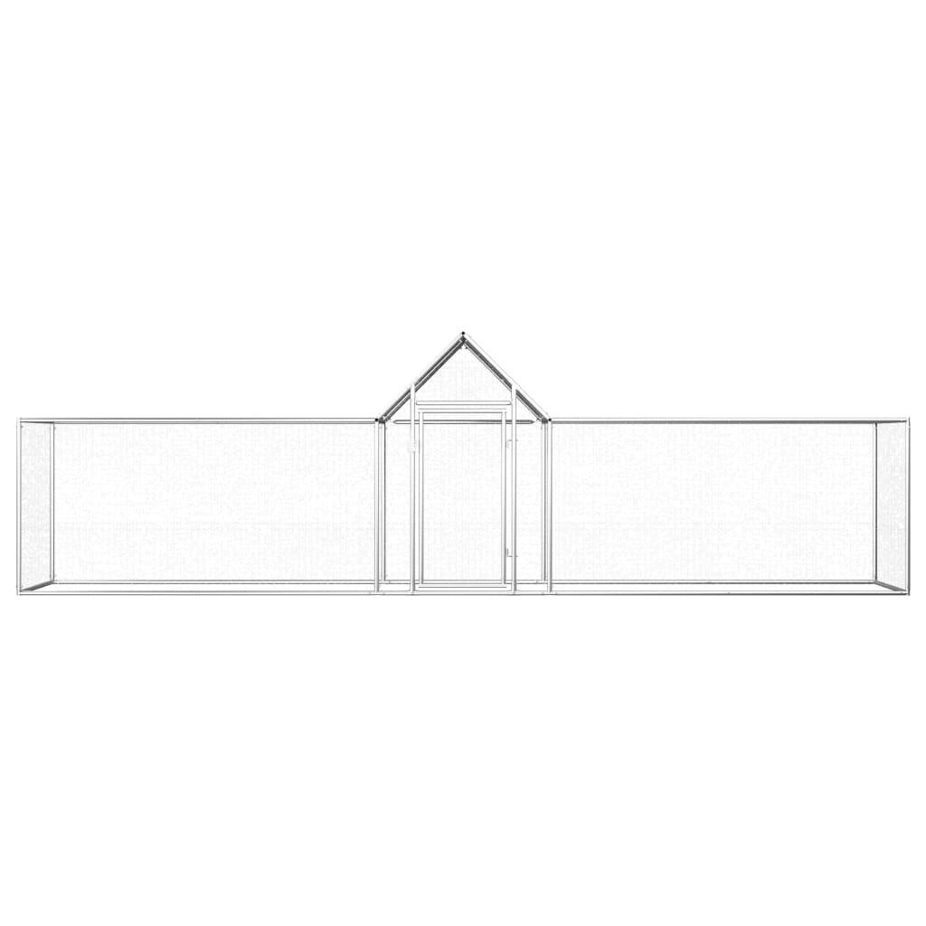 vidaXL Kippenren 5x1x1,5 m gegalvaniseerd staal