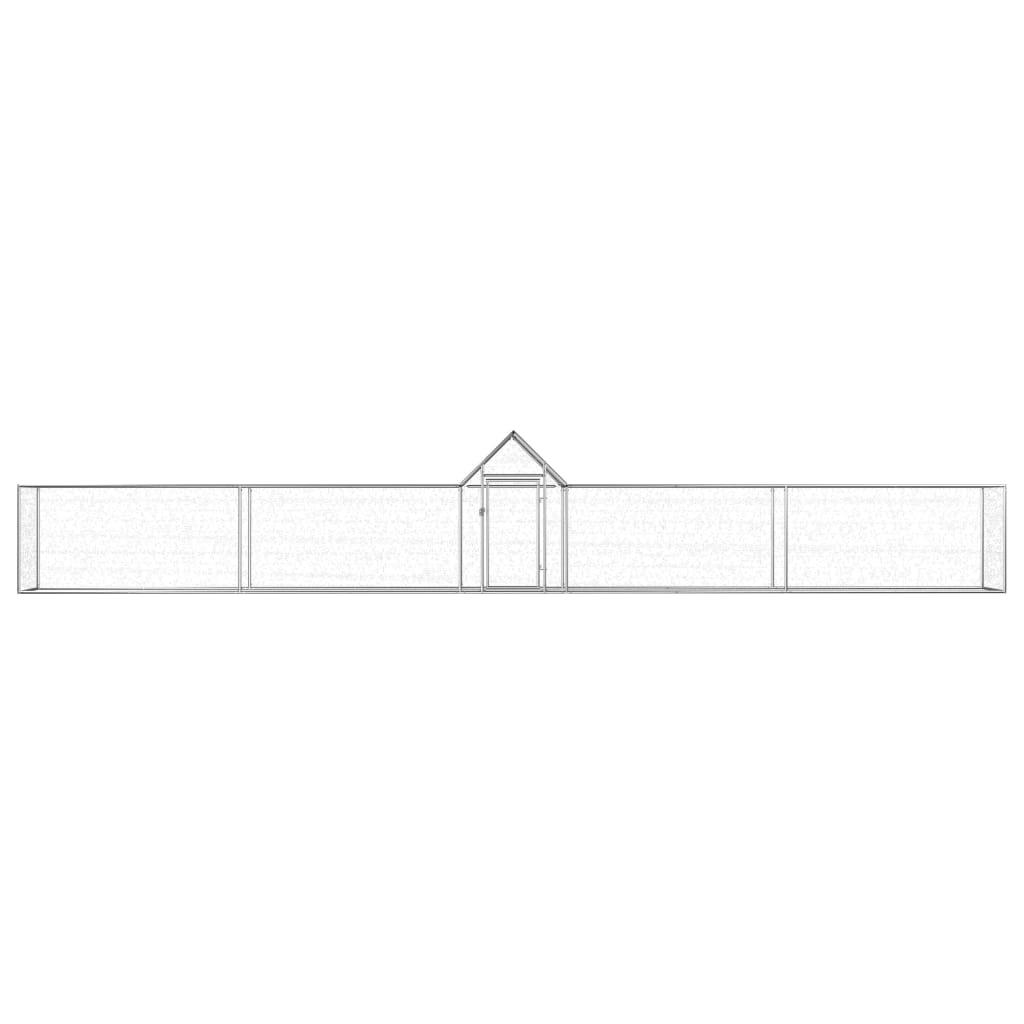 vidaXL Kippenren 9x1x1,5 m gegalvaniseerd staal