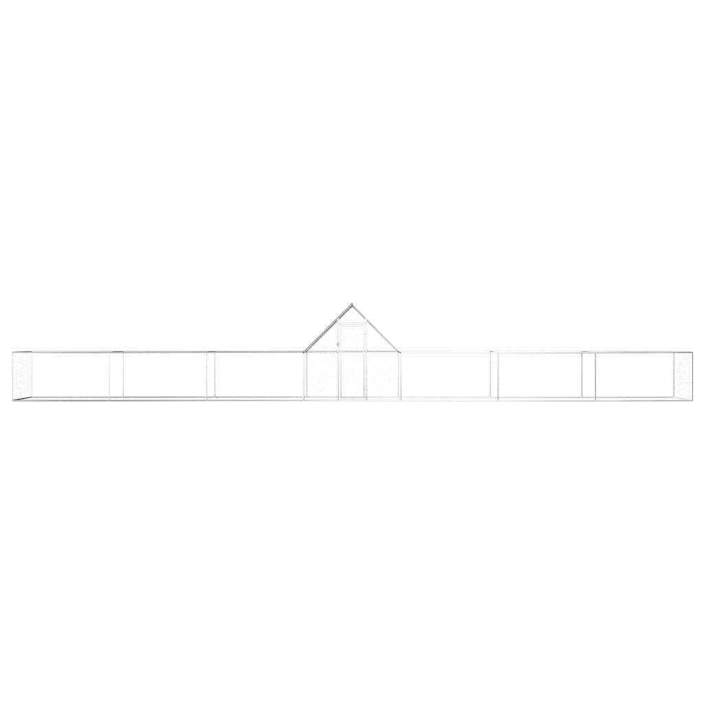 vidaXL Kippenren 14x2x2 m gegalvaniseerd staal