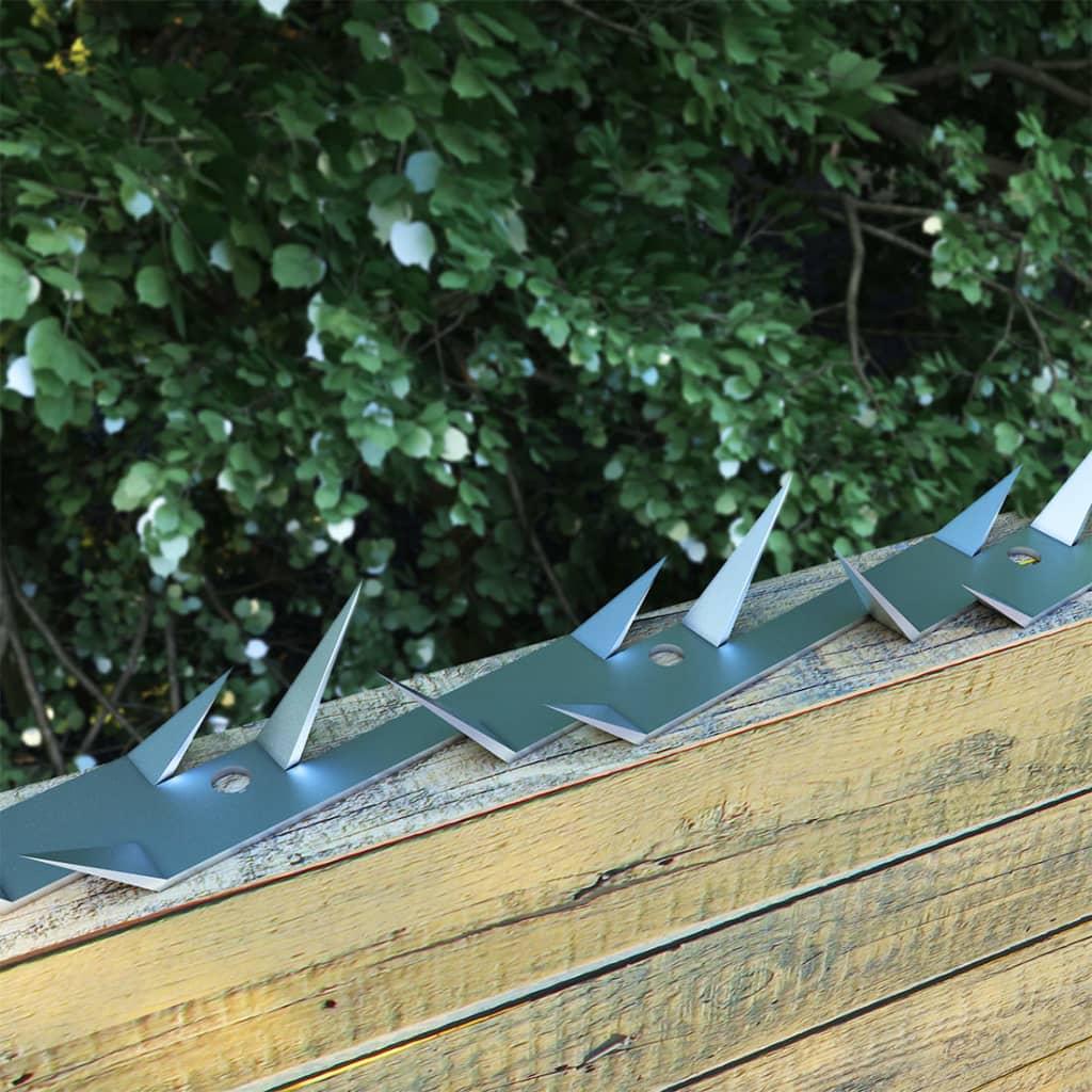 vidaXL Bandă cu țepi de perete, 2 buc., 1 m, oțel vidaxl.ro
