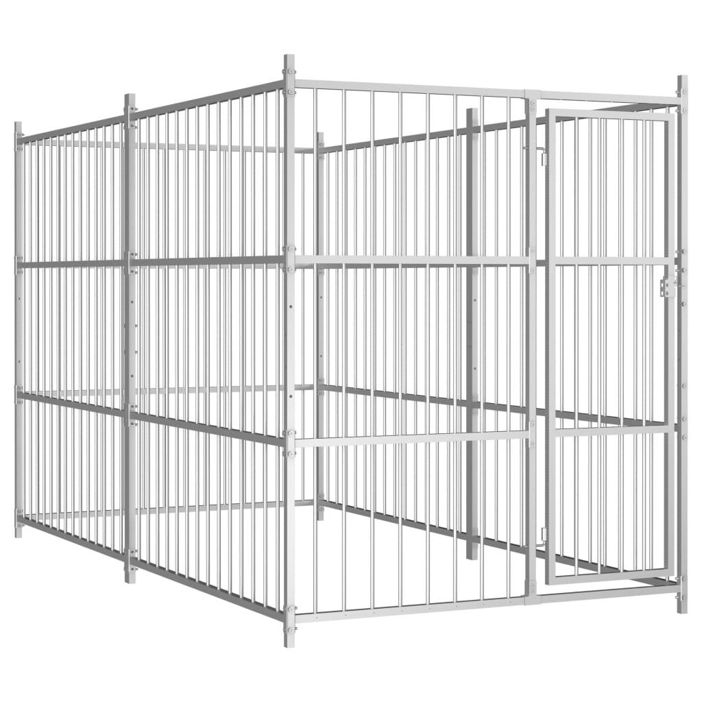 vidaXL Padoc de câini pentru exterior, 300x150x185 cm imagine vidaxl.ro