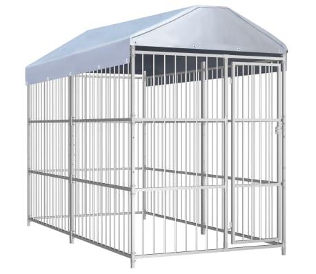 vidaXL Perrera de exterior con techo 300x150 cm