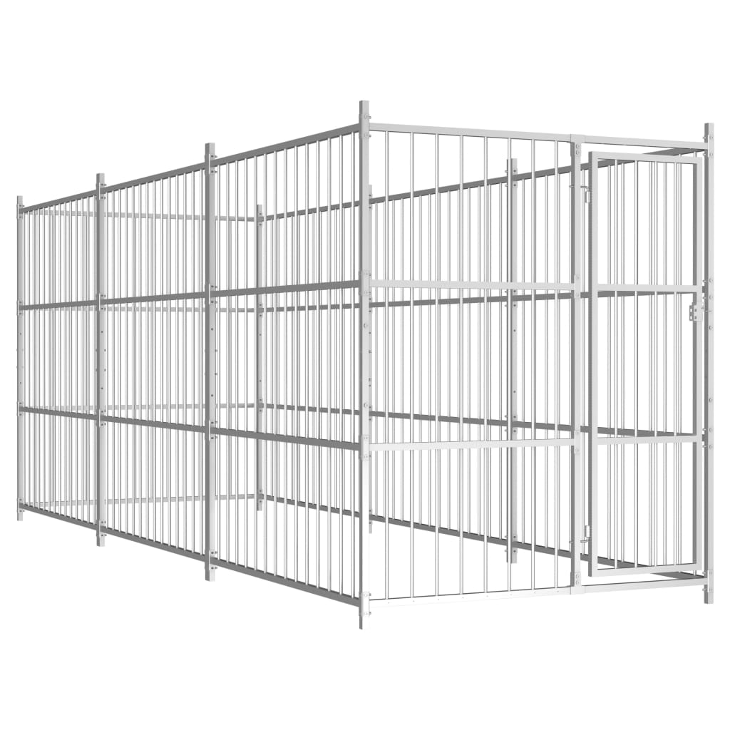 vidaXL Padoc pentru câini de exterior, 450x150x185 cm imagine vidaxl.ro