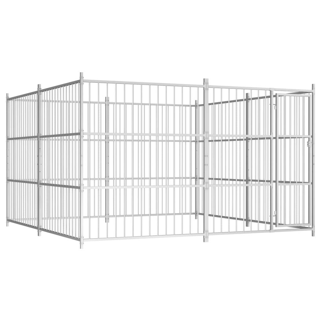 vidaXL Padoc pentru câini de exterior, 300 x 300 x 185 cm poza vidaxl.ro