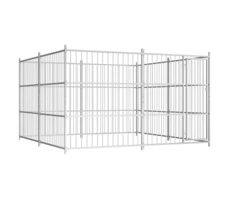 vidaXL Chenil d'extérieur pour chiens 300 x 300 x 185 cm