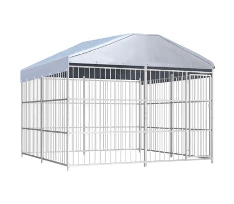 vidaXL Perrera de exterior con techo 300x300 cm