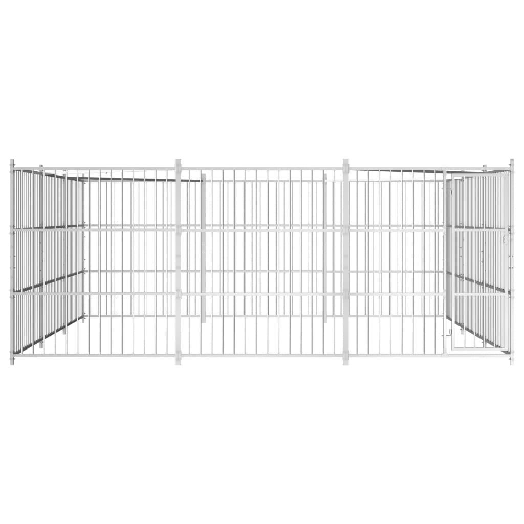 vidaXL Hondenkennel voor buiten 450x450x185 cm