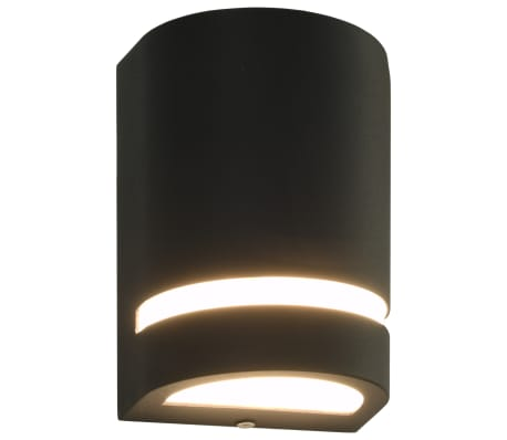 vidaXL Venkovní nástěnná svítidla 2 ks 35 W černá půlkruhová[2/6]