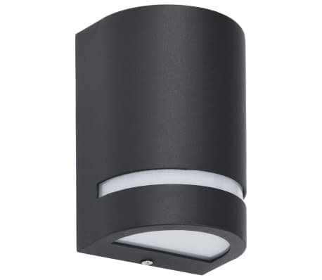 vidaXL Venkovní nástěnná svítidla 2 ks 35 W černá půlkruhová[3/6]