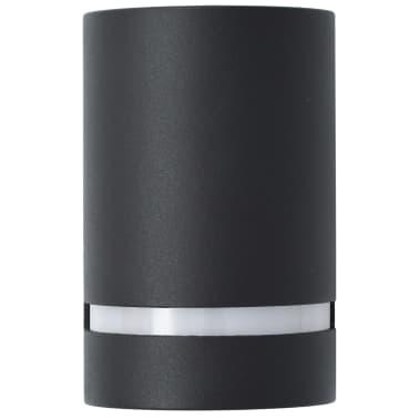 vidaXL Venkovní nástěnná svítidla 2 ks 35 W černá půlkruhová[5/6]