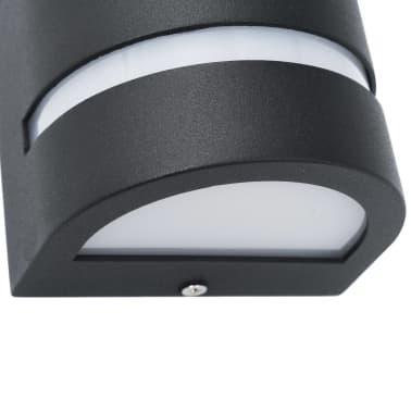 vidaXL Venkovní nástěnná svítidla 2 ks 35 W černá půlkruhová[6/6]