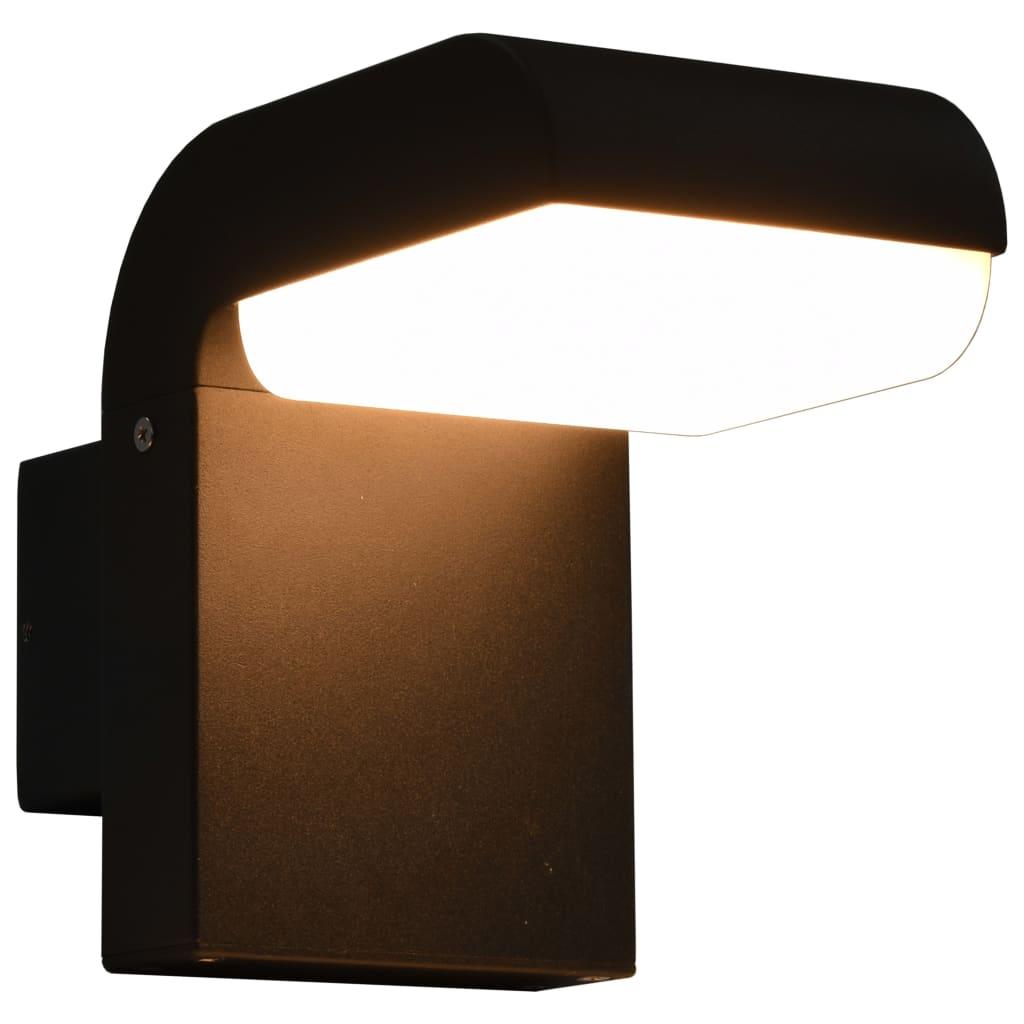 vidaXL Zahradní nástěnné LED svítidlo 9 W černé oválné