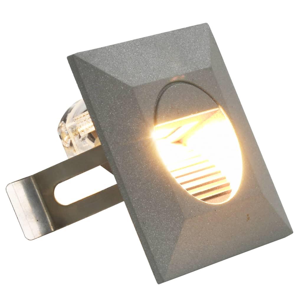 9945656 Außenwandleuchten 6 Stk. LED 5 W Silbern Quadratisch