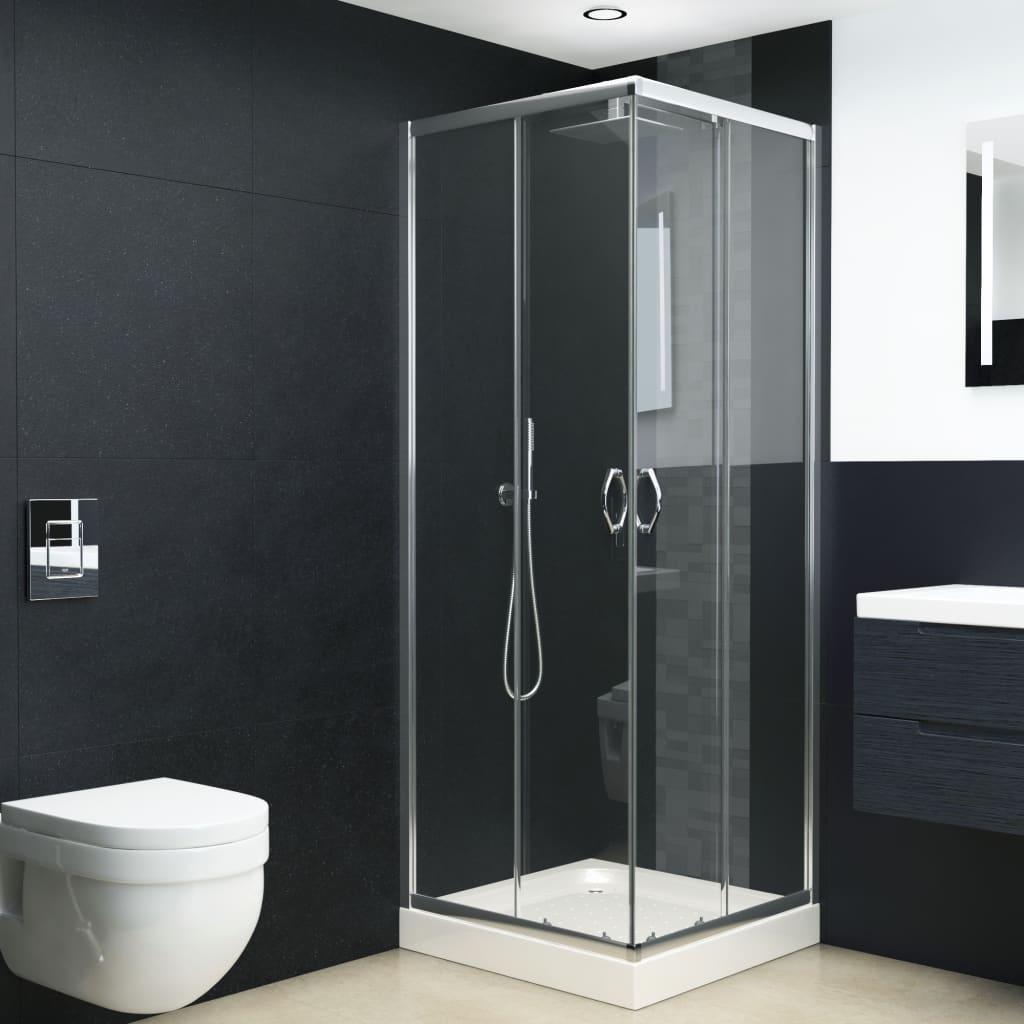 vidaXL Cabină de duș, 80 x 70 x 185 cm, sticlă securizată poza 2021 vidaXL