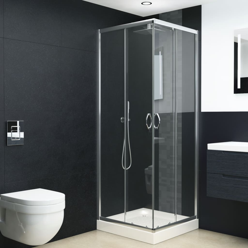 vidaXL Cabină de duș, 80x80x185 cm, sticlă securizată poza 2021 vidaXL