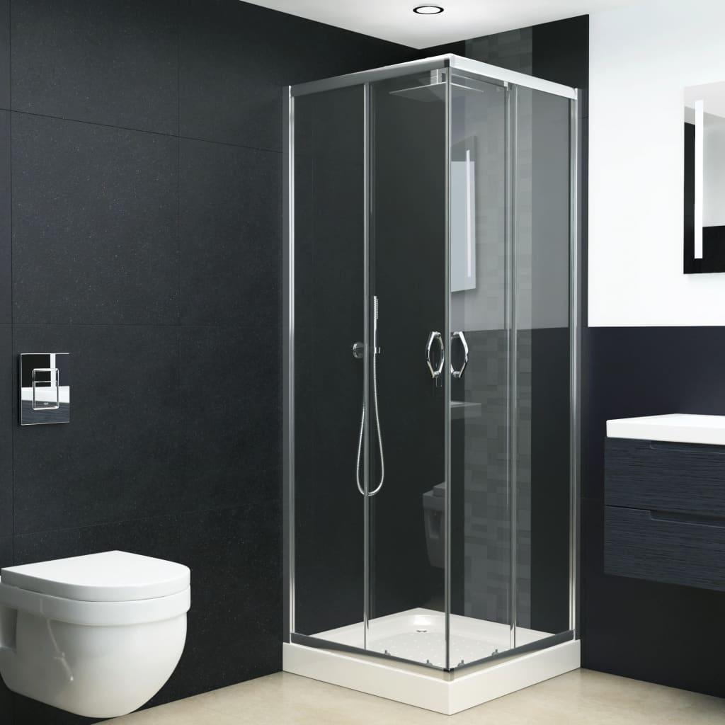 vidaXL Cabină de duș, 90 x 80 x 180 cm, sticlă securizată imagine vidaxl.ro