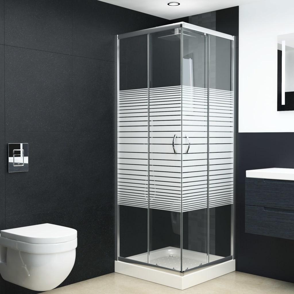 vidaXL Cabină de duș, 80 x 80 x 185 cm, sticlă securizată vidaxl.ro