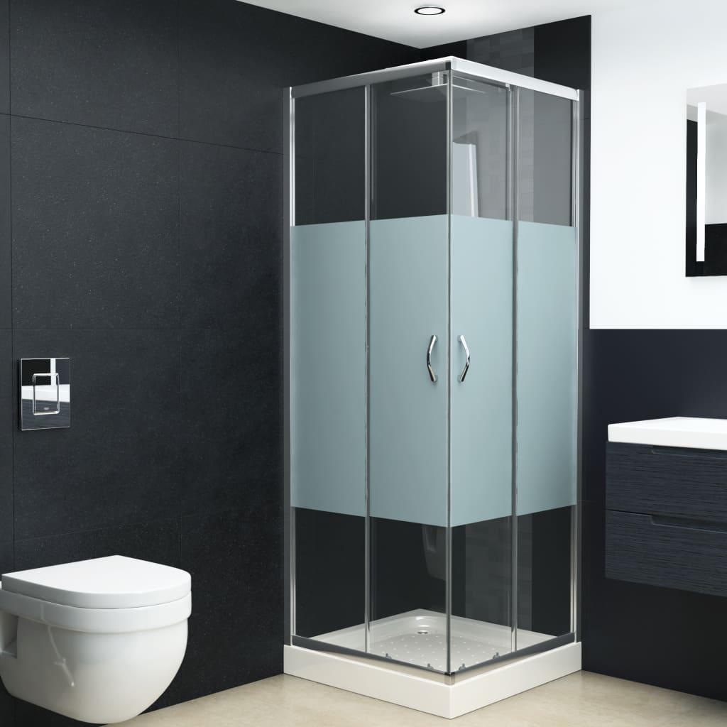 vidaXL Cabină de duș, 80x80x185 cm, sticlă securizată vidaxl.ro