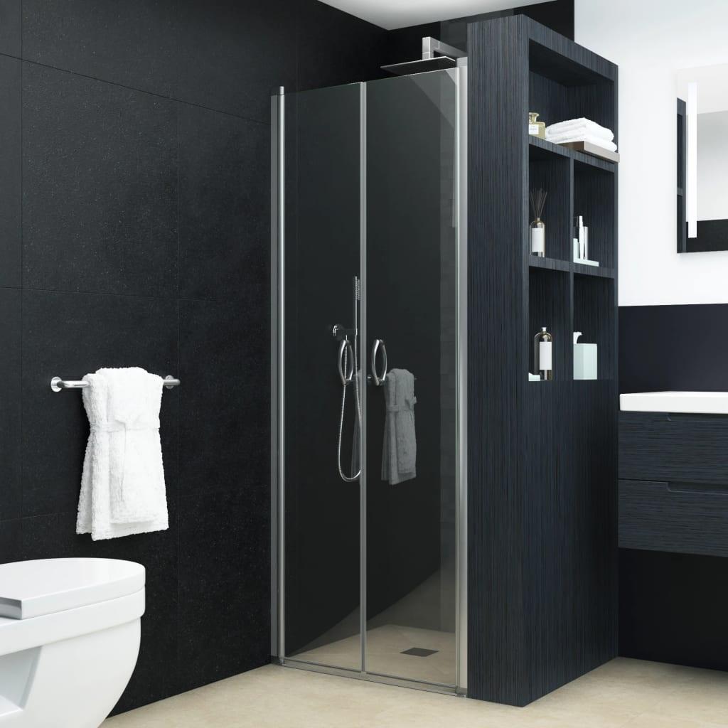 vidaXL átlátszó ESG zuhanyajtó 75 x 185 cm