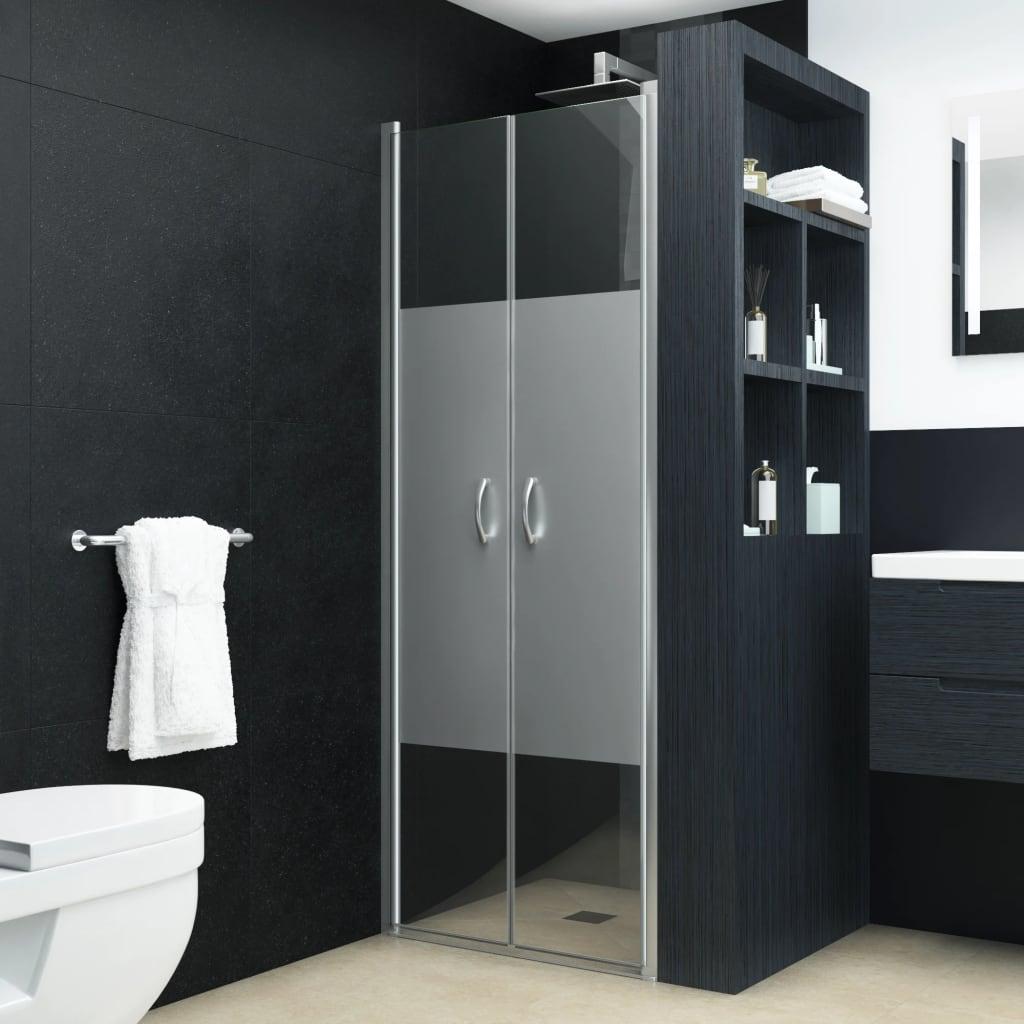 vidaXL Uși cabină de duș, jumătate mat, 70 x 185 cm, ESG poza vidaxl.ro