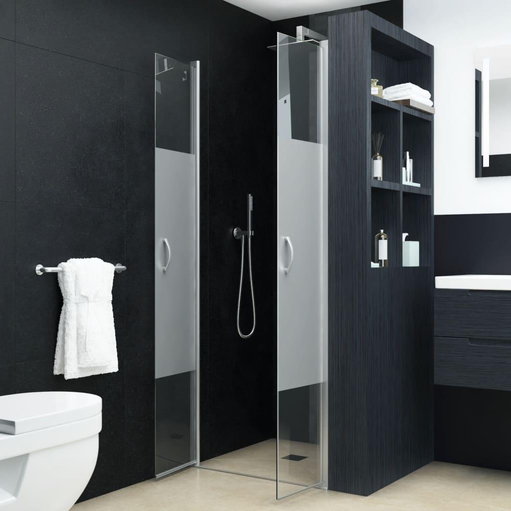 vidaXL Uși cabină de duș, jumătate mat, 75x185 cm, ESG imagine vidaxl.ro