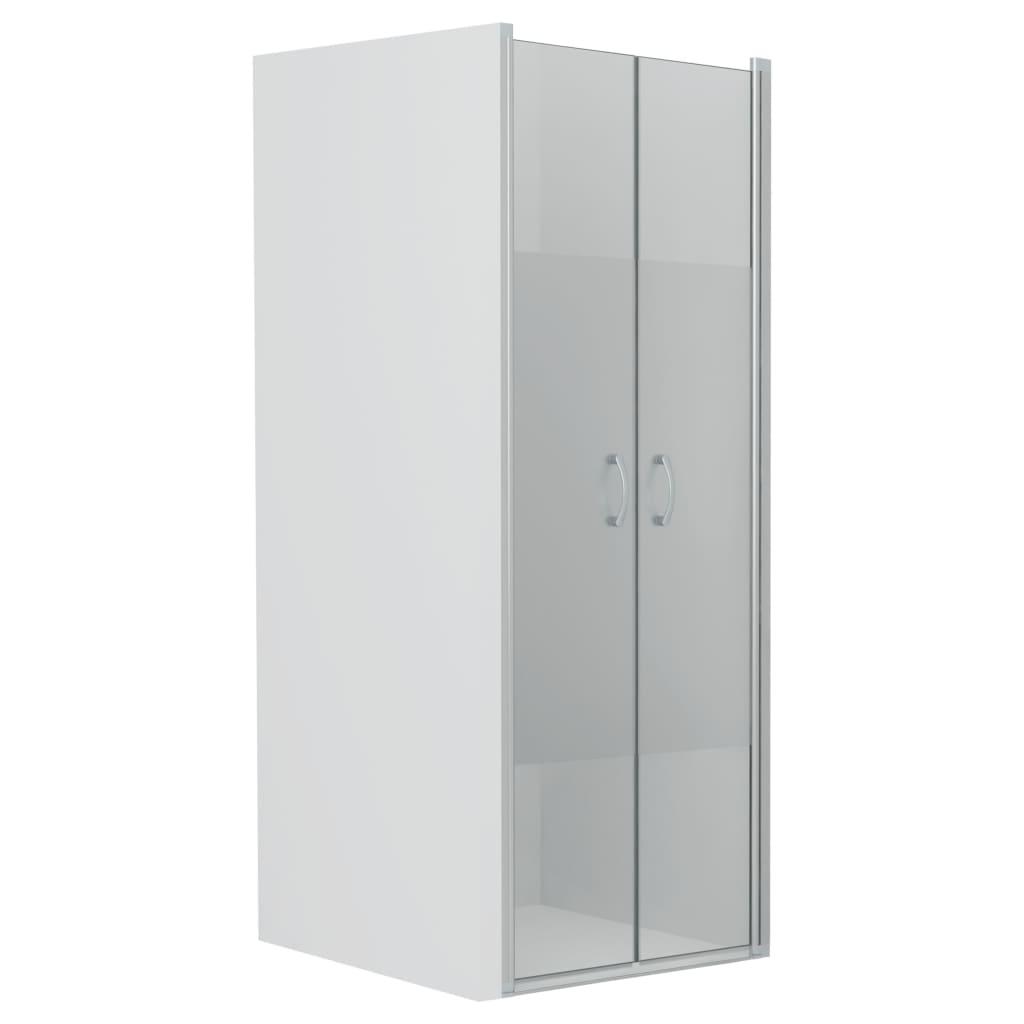 vidaXL Uși cabină de duș, jumătate mat, 80x185 cm, ESG imagine vidaxl.ro